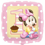 Folienballon Minnie 1. Birthday Girl, 45 cm