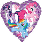 Folienballon My Little Pony Heart, ca. 45 cm