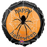 SALE Folienballon Spooky Spider Web, 45 cm
