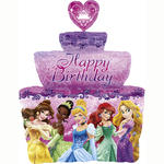 Folienballon Princess Birthday Cake 53x71 cm