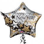 Folienballon Happy New Year Garland 60x68cm