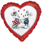 Folienballon Mickey & Minnie Love, 45 cm