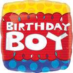 SALE Folienballon Little Birthday Boy, ca. 45 cm