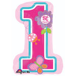 Folienballon Sweet 1. Birthday Girl 48x71cm