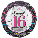 Folienballon Sweet 16 Sparkle, 45 cm