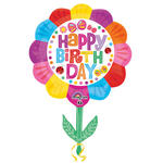 Folienballon Happy Birthday Flower, 53x73cm