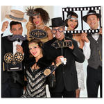 Photo Booth Set Hollywood, 12-teilig