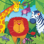 Servietten Jungle Animals, 33x33 cm, 16 Stk.