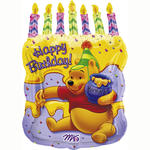 SALE Folienballon Pooh Cake with Candles, 45x58 cm