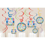NEU Girlande Bright Birthday spiralförmig, 12 St.