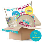 NEU Partybox Happy Birthday Chalky, 8 Personen