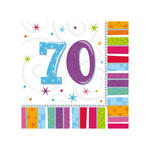 Servietten Radiant Birthday 70, 16 Stk.