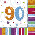 Servietten Radiant Birthday 90, 16 Stk.