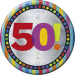 SALE Button 50th Birthday 15 cm