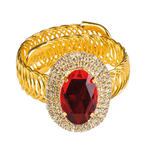 SALE Armband Ruby, Metall, gold mit rotem Stein