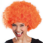 Perücke Super-Riesen-Afro, orange Locken