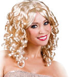 Perücke Cocktail, schulterlange Locken, blond