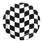 SALE Teller Black & White Check, 8 Stk, � 23 cm
