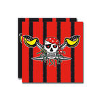 Servietten Red Pirate, 33x33 cm, 20 St�ck