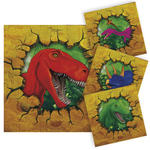 Servietten Dino Party, ca. 25x25 cm, 16 Stück