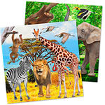 Servietten Safari Party, ca.33x33 cm, 20 St�ck