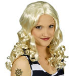 Per�cke Joy, Langhaar mit Locken, blond