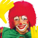 Per�cke Clown aus Wolle, rot