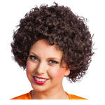 Perücke Unisex Clown,  Afro Hair, kleine Locken, braun