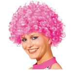 Perücke Unisex Clown, Afro Hair, kleine Locken, pink