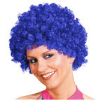 Perücke Unisex Clown, Afro Hair, kleine Locken, blau