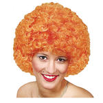 Perücke Unisex Clown, Afro Hair, kleine Locken, orange