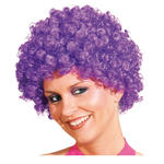 Perücke Unisex Clown, Afro Hair, kleine Locken, lila