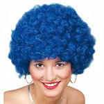 Afro-Per�cke Hair, kleine Locken, blau