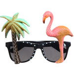 SALE Brille Hawaii, Palme & Flamingo