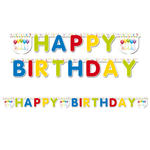 Girlande HB Streamers, HAPPY BIRTHDAY, ca. 2 m
