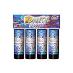 Party Popper, 10 cm, 4er-Pack