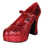 SALE Schuhe mit Plateau-Sohle Mary Jane rot Gr. 37