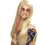 Per�cke Hippie Party mit Perlen, blond