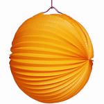 SALE Lampion rund, ca. Ø 22 cm, orange