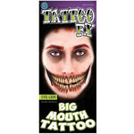 NEU Tinsley Transfers Big Mouth Tattoo Evil Grin