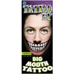 NEU Tinsley Transfers Big Mouth Tattoo Chompers