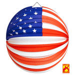 Lampion USA, Ø 25 cm, flammensicher