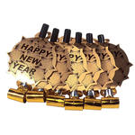 NEU Luftr�ssel Happy New Year, gold