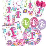 NEU Party-Set-Premium f�r 16 G�ste 1.Birthday-Girl