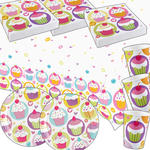 NEU Party-Set-Basic für 8 Gäste Cupcake