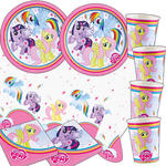 Party-Set-Basic für 16 Gäste My Little Pony