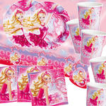 NEU Party-Set-Basic f�r 16 G�ste Barbie Pink Shoes