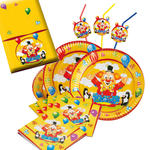 NEU Party-Set-Basic f�r 16 G�ste Clown mit Ballons