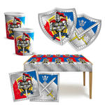 Party-Set-Basic für 6 Gäste Ritter&Wappen