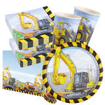 NEU Party-Set-Basic f�r 16 G�ste Baustelle Bagger